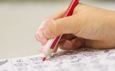 Coloring with Noggins Pencil and Pig Grip