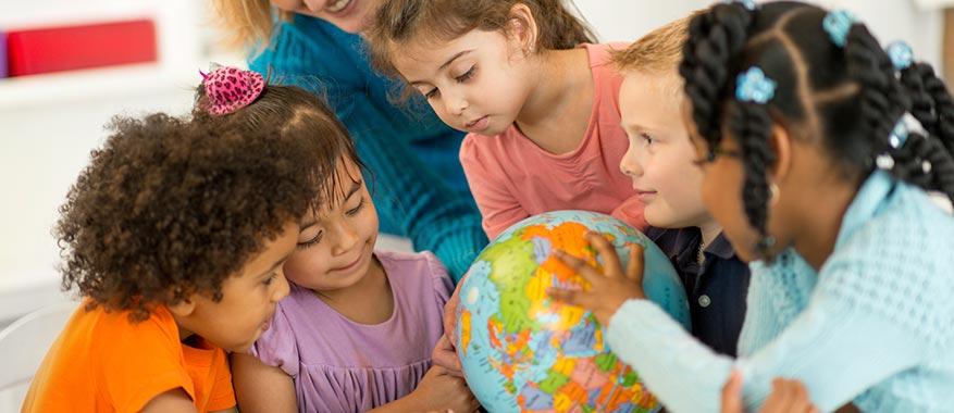 Kids learning social studies